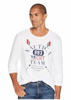 Nautica Long Sleeve Yacht Team Crew T-Shirt