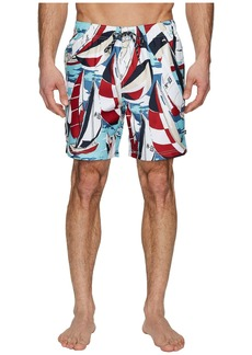 Nautica All Over Sailboat Print Swim Trunk