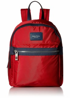 Nautica Armada Formation Top Handle Backpack with Large Front Zipper Pocket red
