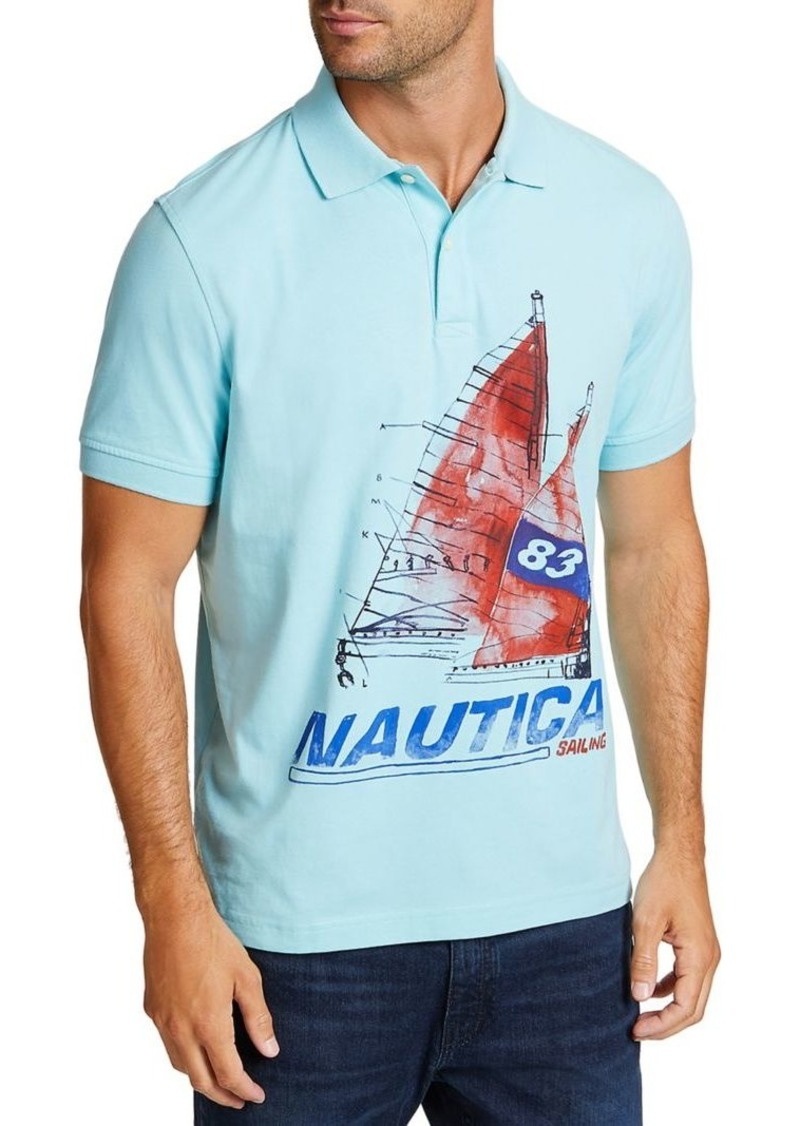 Nautica Artist Series Painted Boat Classic-Fit Cotton Polo