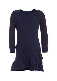 Nautica Asymmetrical Tier Sweatshirt Dress