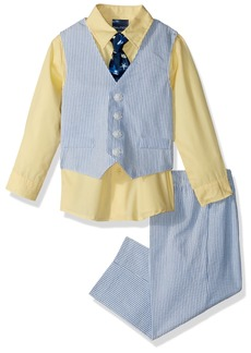 Nautica Boys' Baby 4-Piece Formal Dresswear Vest Set