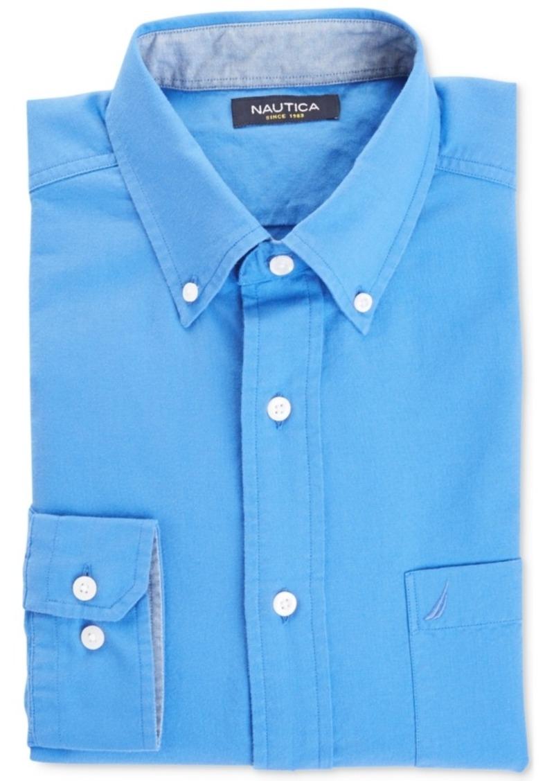 Nautica Big and Tall Men's Contrast-Trim Oxford Shirt