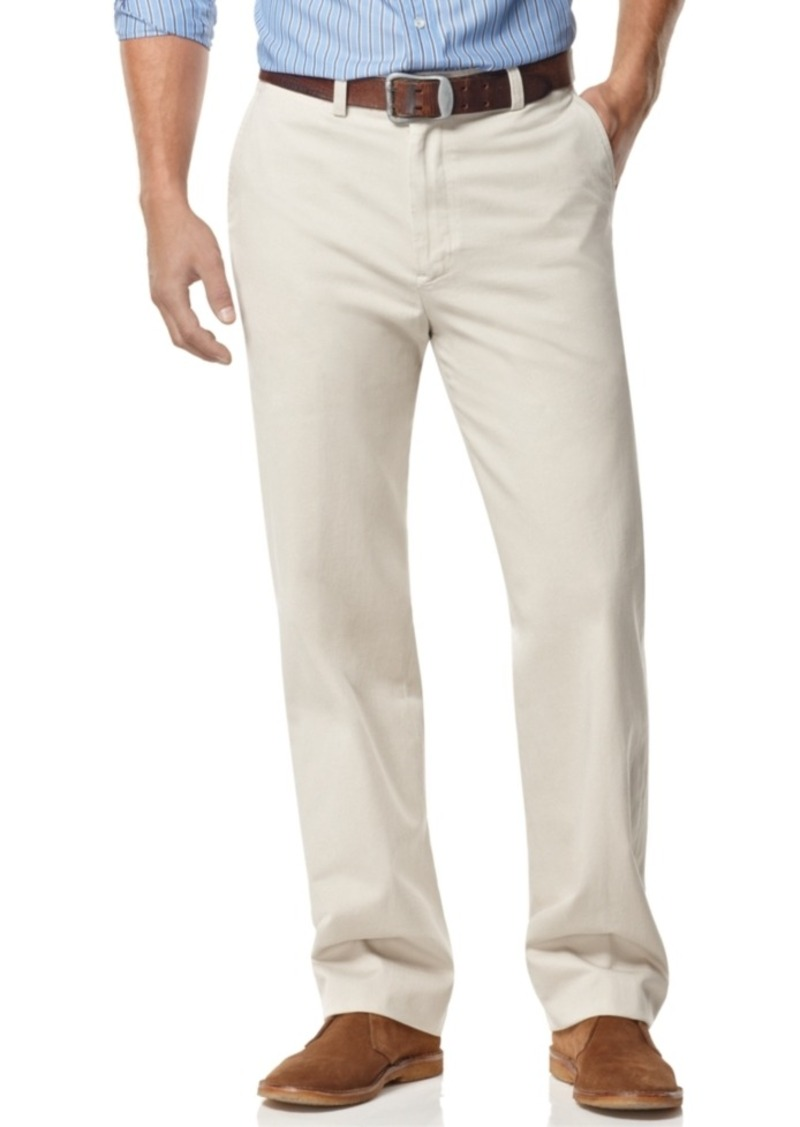 Nautica Big and Tall Men's Pants, Anchor Flat Front Twill Pants