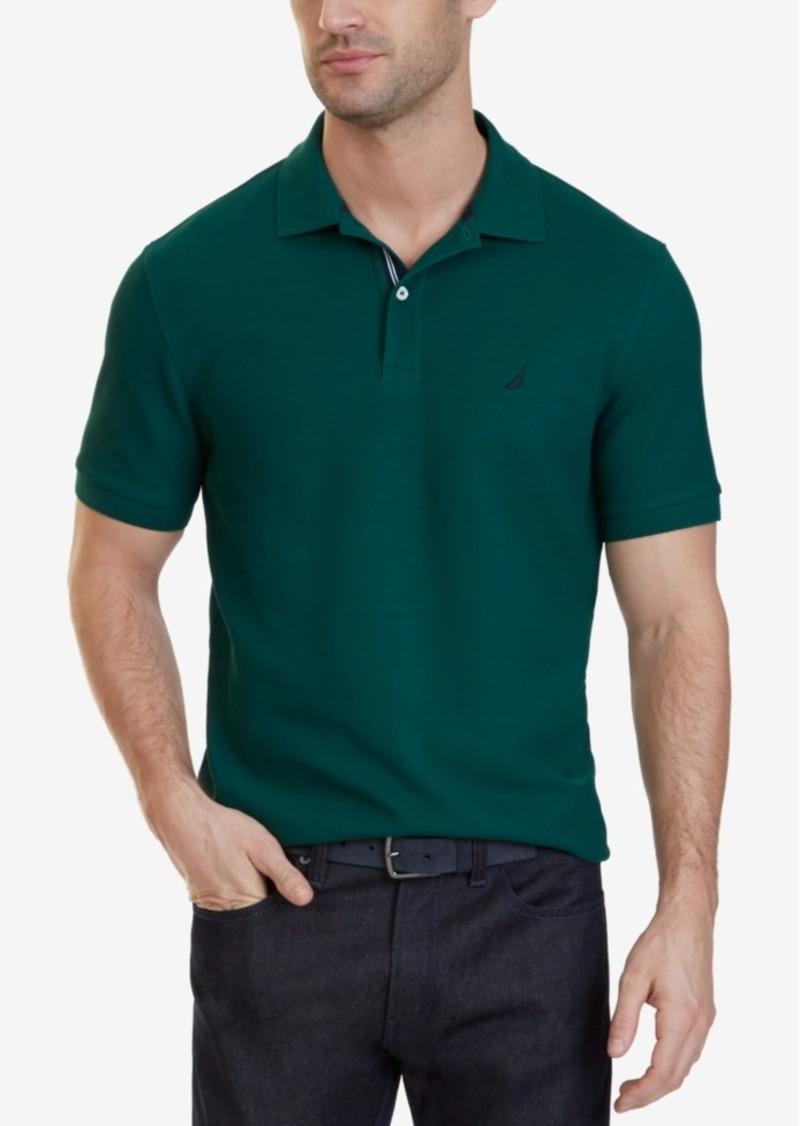 Nautica nautica big and tall men 39 s shirt solid deck for Big and tall polo shirts on sale
