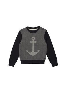 Nautica Big Boys' Crewneck Jacquard Anchor Sweater