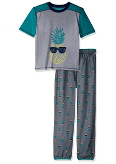 Nautica Boys' Big 2 Piece Jersey Pajama Set  XSmall