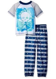 Nautica Big Boys' Skull 2 Piece Pajama Set  XSmall
