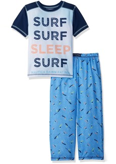 Nautica Boys' Big Sleep Surf 2 Piece Pajama Set