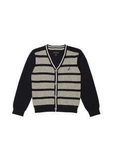 Nautica Big Boys' Stripe Cardigan Sweater