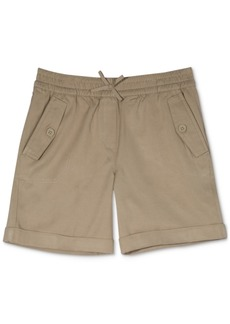 Nautica Big Girls Cuffed Twill Shorts
