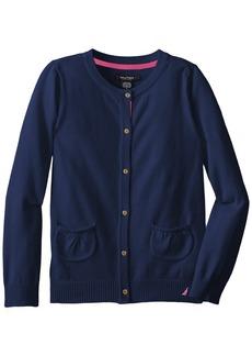 Nautica Big Girls' Jersey Sweater with Pockets