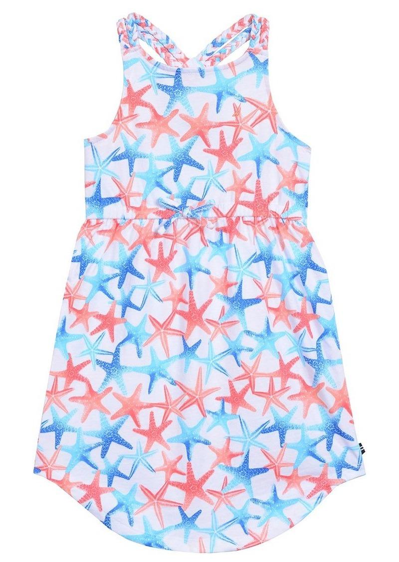 Nautica Big Girls' Knit Dress with Braided Strap
