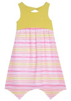 Nautica Big Girls' Knit Dress WTH Stripe Chiffon Skirt