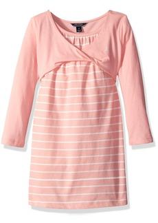Nautica Big Girls Layered Knit Dress