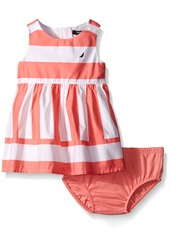 Nautica Big Girls' Multi-Directional Stripe Dress