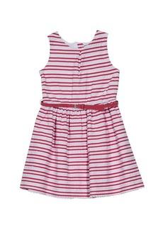 Nautica Big Girls' Patterned Sleeveless Dress