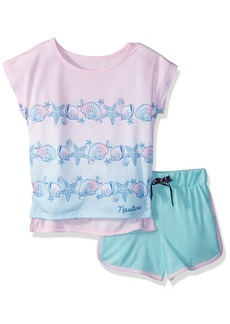 Nautica Big Girls' Seashell Short Pajama Set  XLarge