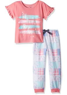 Nautica Big Girls' Sleep Dream Rise Repeat Pajama Set  XSmall