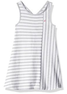 Nautica Big Girls' Stripe Criss Cross Back Knit Dress