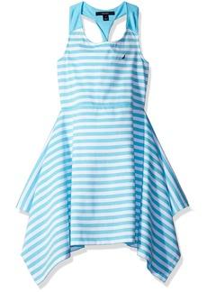 Nautica Big Girls' Stripe Knit Dress with Twist Detail