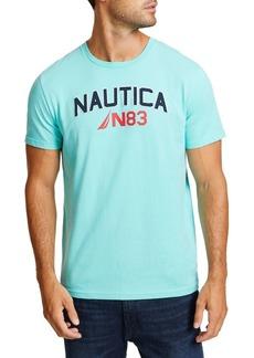 Nautica Big Wave Surfing Crewneck Cotton Tee