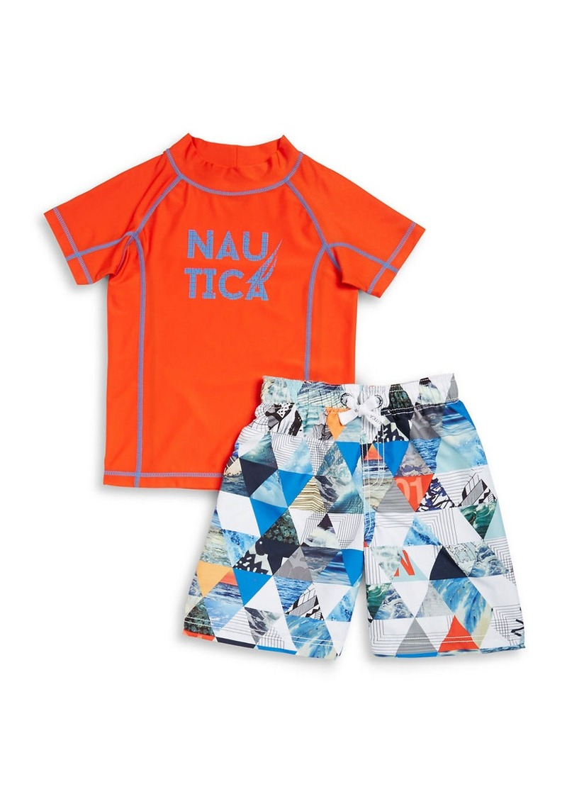46cc3a0f08 Nautica NAUTICA Boys 2-7 Boys Rash Guard and Swim Shorts Set | Sets