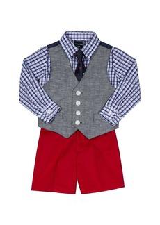Nautica Boys' Baby 4-Piece Formal Dresswear Vest Set