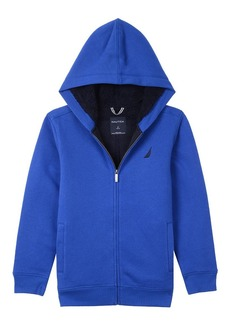 Nautica Boy's Big Expedition Sherpa Fleece Full Zip Hoodie
