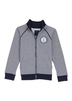 Nautica Boys' Big Fleece Jacket with Piping  Large (14/16)