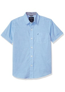 Nautica Boys' Big Short Sleeve Poplin Shirt
