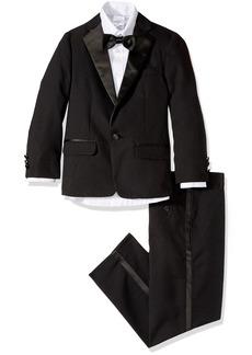 Nautica Boy's Big Tuxedo Set with Jacket Pant Shirt and Bow Tie