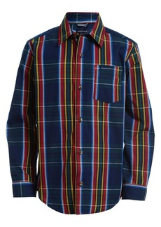 Nautica Boy's Clark Plaid Cotton-Blend Shirt