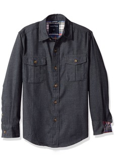 Nautica Boys' Long Sleeve Flannel Woven Shirt
