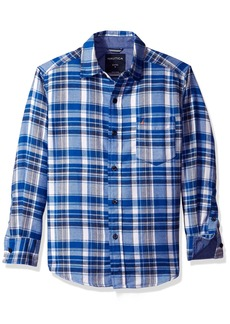 Nautica Boys' Long Sleeve Flannel Woven Shirt  Medium/5-6