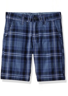 Nautica Boys' Little Printed Flat Front Short