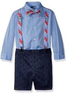 Nautica Boys' Little Set with Shirt Pant Suspenders and Bow Tie