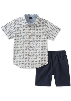 Nautica Boys' Little Shirt with Shorts