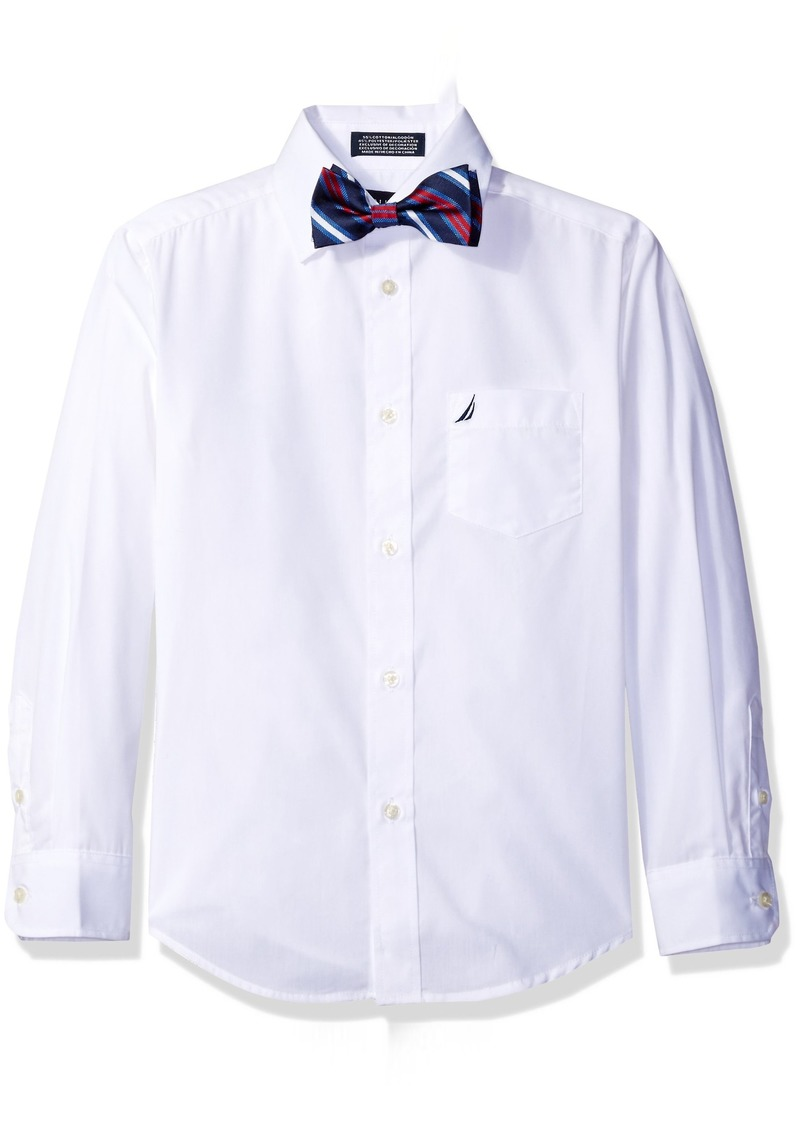 Nautica Nautica Boys Long Sleeve Shirt And With Bow Tie White Shirts