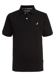 Nautica Boy's Modern-Fit Anchor Cotton Blend Polo