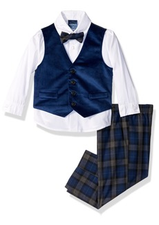Nautica Boys' 4-Piece Formal Dresswear Vest Set with Bow Tie