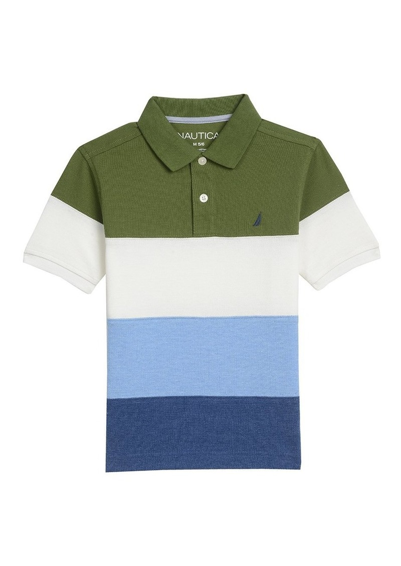 76847a434606de Nautica Nautica Boys' Short Sleeve Colorblock Deck Polo Shirt 7x ...
