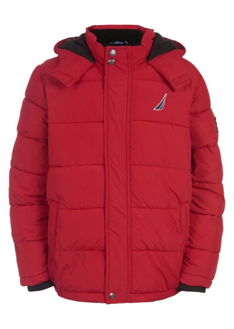 Nautica Boy's Signature Short Bubble Coat