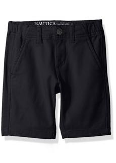 Nautica Boys' Solid Flat Front Short