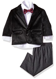 Nautica Boys' Suit Set with Jacket Pant Shirt and Tie  12M