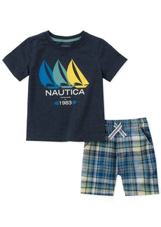 Nautica Boys' Toddler Tee with Shorts