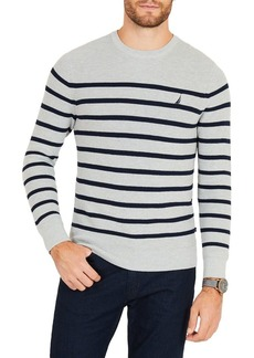 Nautica Breton Navtech Striped Crewneck Sweater