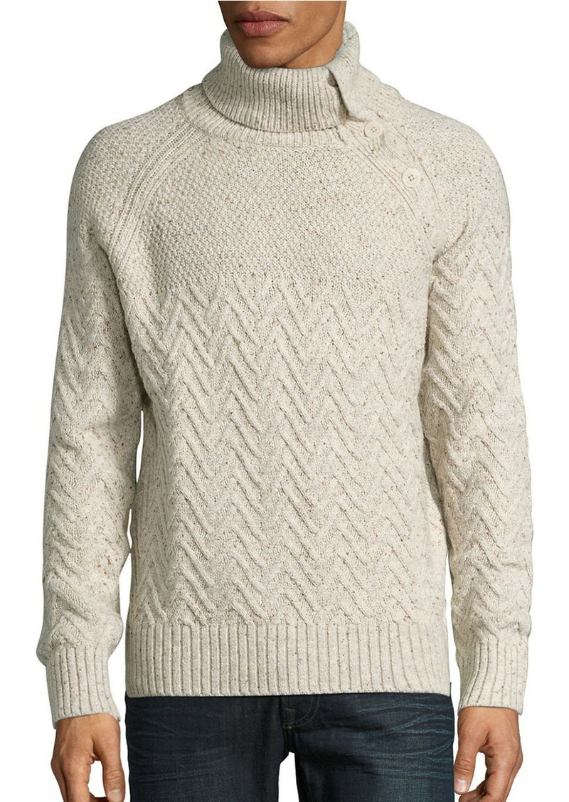 NAUTICA Button Accented Knit Sweater
