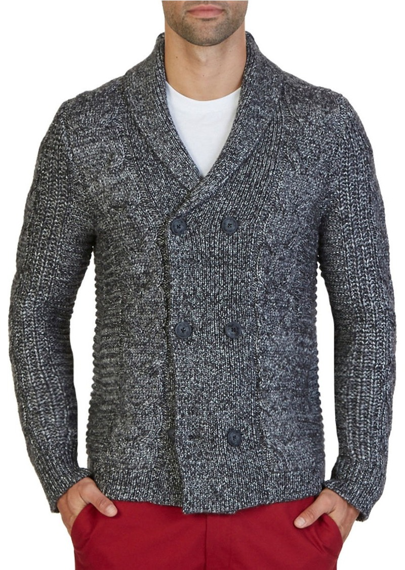 NAUTICA Cable-Knit Sweater Coat