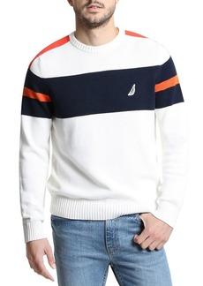 Nautica Challenger Crewneck Stripe Sweater